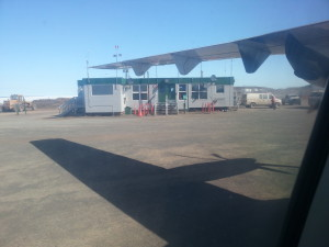 The terminal at Kugluktuk Airport. On any given day there are between one and three flights! (Photo credit: John Kelly)