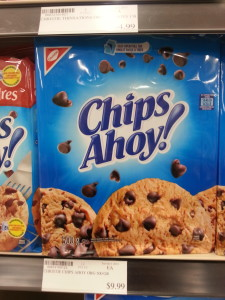 The cost of feeding an addiction to sweets is much greater in the Arctic. Your eyes are not lying to you - the cost of Chips Ahoy cookies is actually $9.99. (Photo credit: John Kelly)