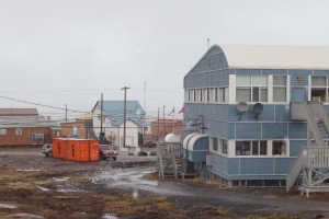 Rain moves in on Kugluktuk for the second day in a row. Storms like this are extremely atypical and unseasonal. (Photo credit: John Kelly)
