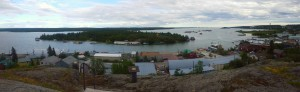 One view from the top of the lookout point in the older part of Yellowknife.